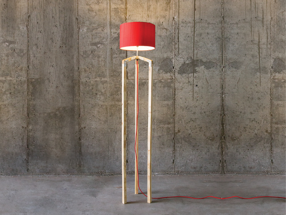 Saltwood Designs Pallet Wood Lamp
