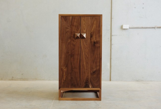 Walnut Whisky Cabinet by Christopher Blank