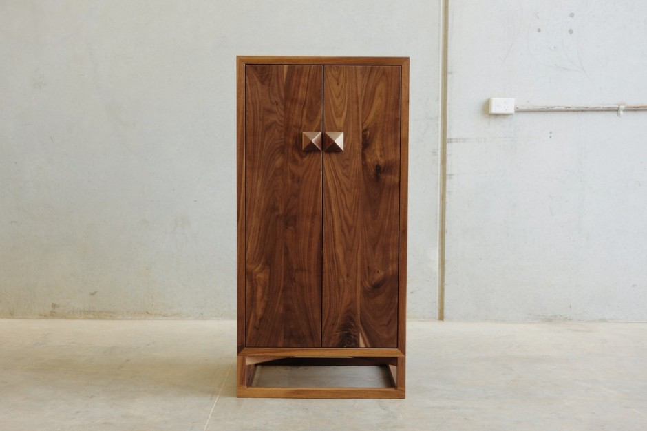 Custom Made Walnut Whisky Cabinet by Christopher Blank