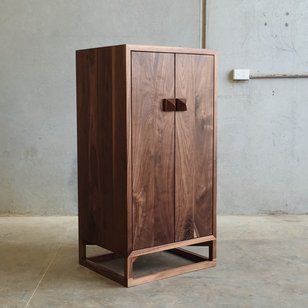 Walnut Whisky Cabinet