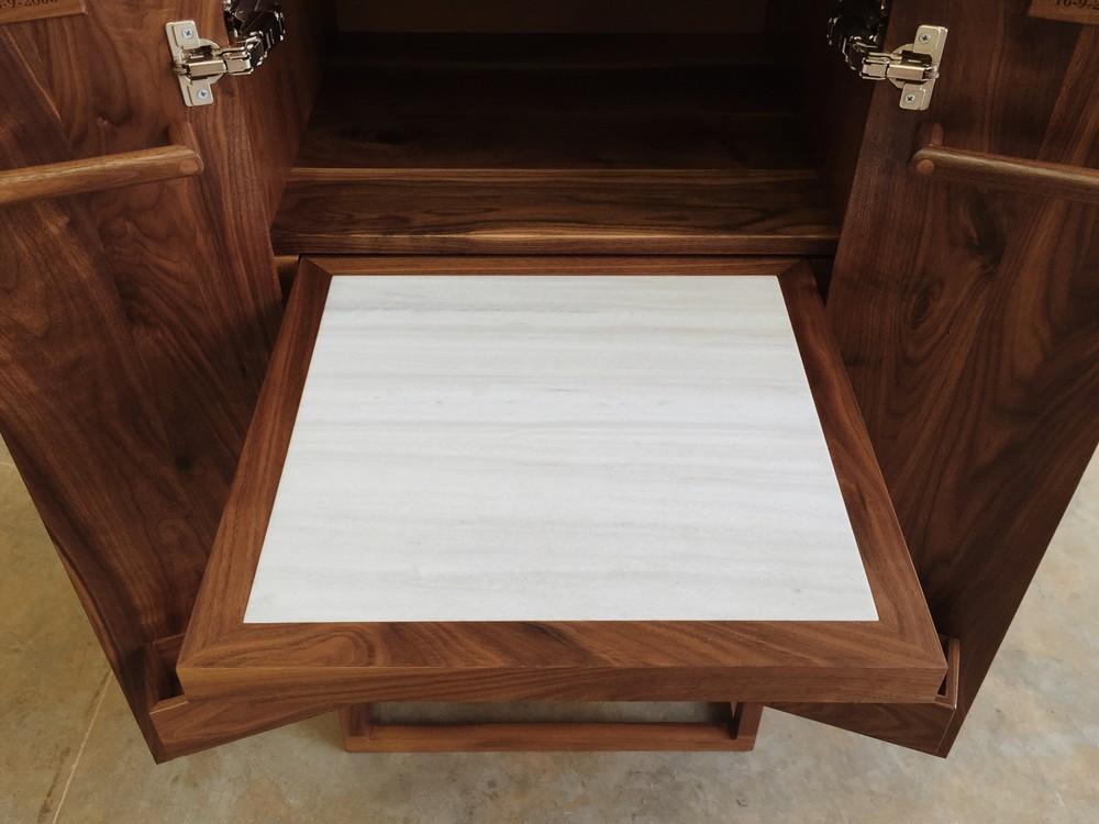Walnut Whisky Cabinet