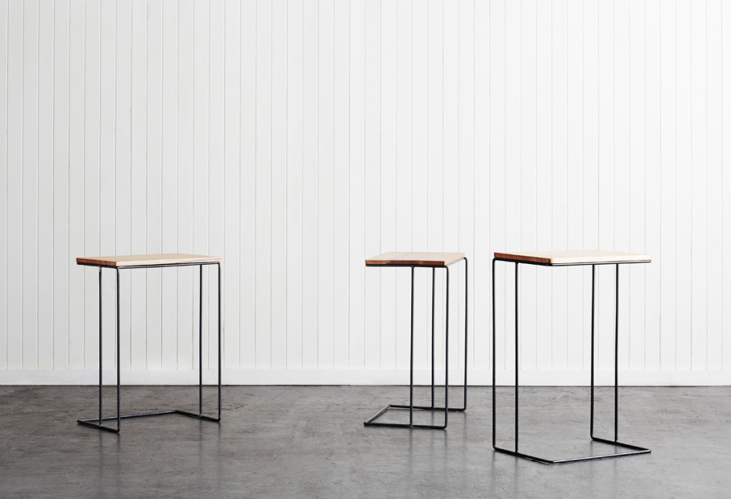 Steel & Timber Butler Side Tables