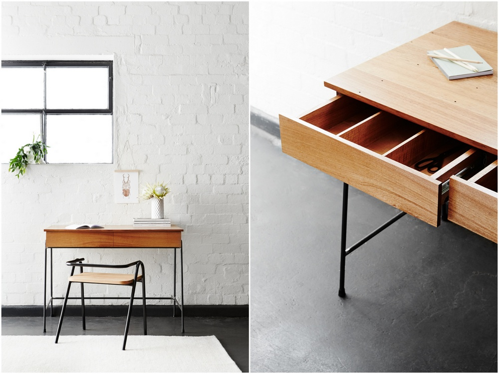 Truant Desk in Timber & Steel by Porktown MFG