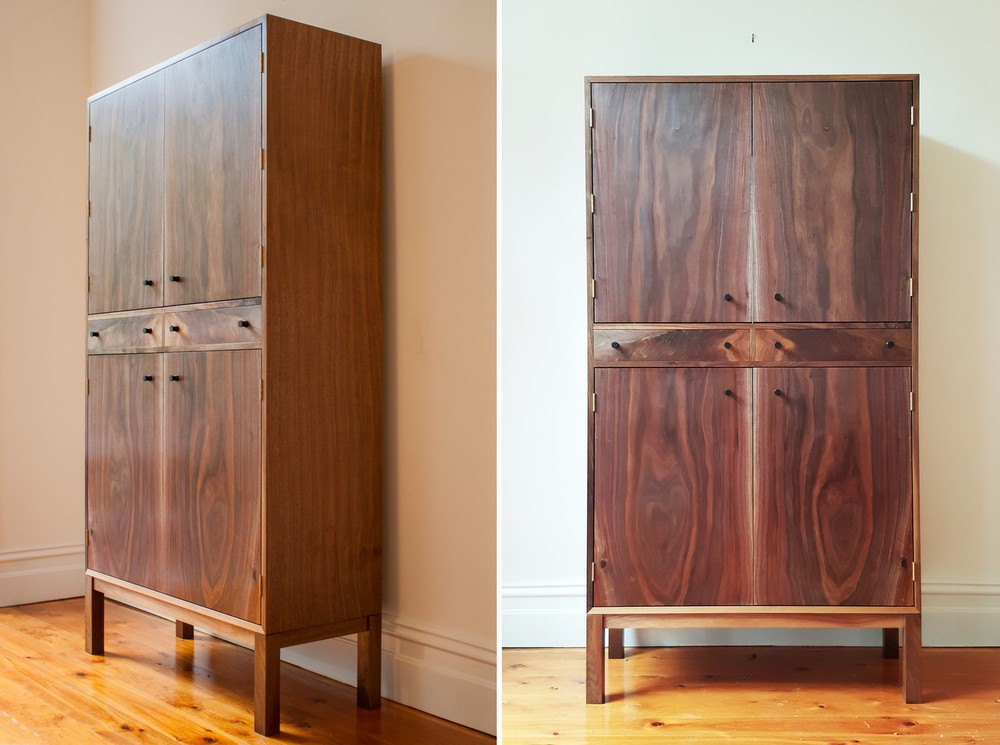 American Walnut Bar Cabinet