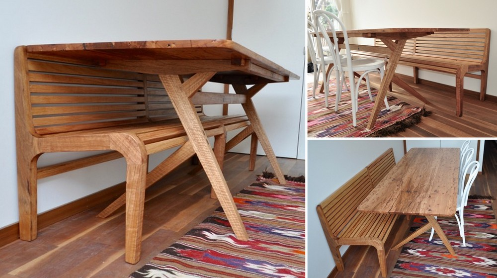 Wilder Coyle Narrow Table & Tram Bench