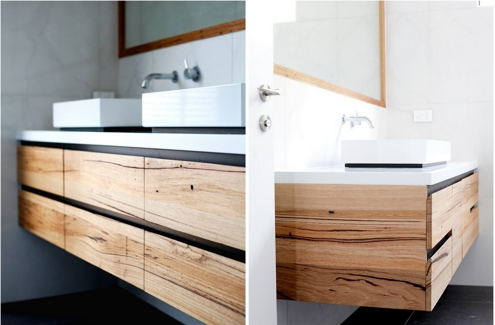 Stupendous Custom Timber Vanities Bringing Warmth To The Bathroom Interior Design Ideas Oteneahmetsinanyavuzinfo
