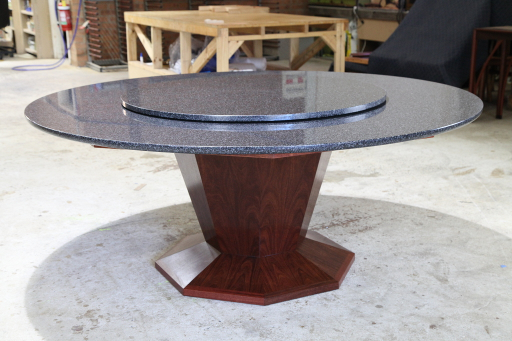 Chinese Dining Table Granite & Jarrah