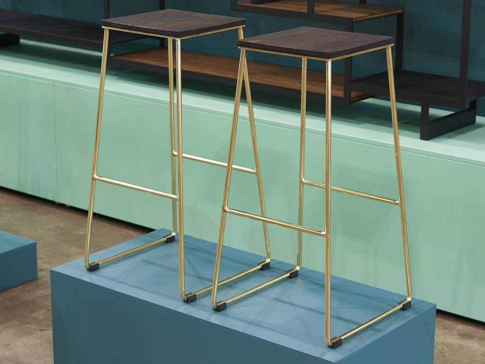 Handkrafted LUI Brass Stools DENFAIR