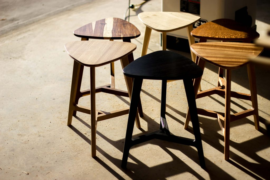 Stools by Lee Sinclair Design Co